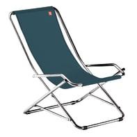 Sedia a sdraio pieghevole Swing in alluminio verde