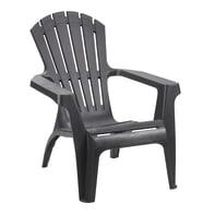 Sedia con braccioli senza cuscino in resina iniettata Dolomiti TELEHIT GARDEN colore antracite