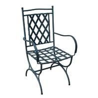 Sedia con cuscino  in ferro Maroc colore grigio antracite