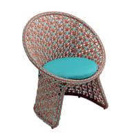 Sedia con cuscino  in alluminio Provence NATERIAL colore legno