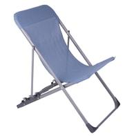 Sedia da giardino senza cuscino pieghevole in acciaio Denver NATERIAL colore blu