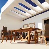 Tavolo da giardino allungabile  rettangolare con piano in legno L 200 x P 100 cm
