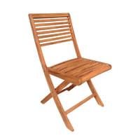 Sedia da giardino senza cuscino Alfa colore marrone