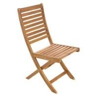 Sedia da giardino senza cuscino pieghevole in legno NATERIAL colore marrone