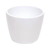 Vaso Stella in ceramica colore bianco H 7.2 cm, Ø 9.5 cm