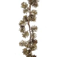 Ghirlanda natalizia di pigne oro e verde L 120 cm , Ø 6 cm