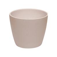 Vaso Spring ALMAS S.A. in ceramica colore bianco H 12 cm, Ø 15 cm
