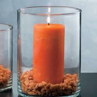 Vaso in vetro L 15 x H 20 cm Ø 15 cm
