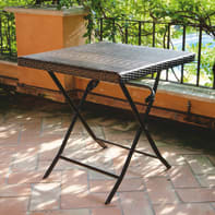 Tavolo da giardino quadrata con piano in acciaio L 60 x P 60 cm