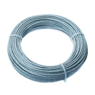Cavo STANDERS 72 fili in acciaio zincato Ø 5 mm x 25 m
