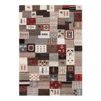 Tappeto persiano Orient shiraz patchwork multicolor 200x200 cm