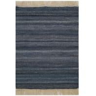 Tappeto Kilim lana , tessuto a mano, blu, 60x150 cm