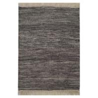 Tappeto Kilim lana , tessuto a mano, grigio scuro, 60x150 cm
