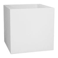 Vaso Kube Gloss EURO3PLAST in polietilene colore bianco H 30 cm, L 30 x P 30 cm