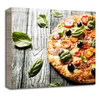 Quadro in legno Charme Pizza 30x30 cm