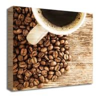Quadro in legno Coffee Up 30x30 cm
