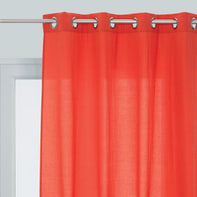 Tenda INSPIRE Lea rosso occhielli 140 x 280 cm