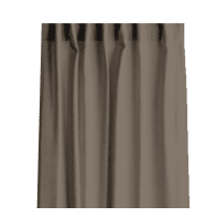 Tenda INSPIRE Lino ecrù fettuccia con passanti nascosti 140 x 280 cm