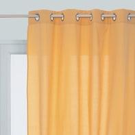 Tenda INSPIRE Lea giallo occhielli 140 x 280 cm