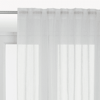 Tenda INSPIRE Lolita bianco fettuccia e passanti 300.0 x 280.0 cm