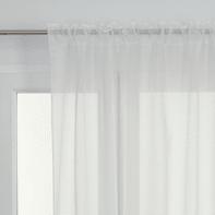 Tenda Marta bianco panna passanti nascosti 140 x 280 cm