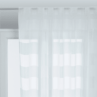 Tenda Maryline bianco arricciatura con passanti nascosti 140 x 280 cm