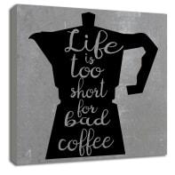 Quadro in legno Coffee 30x30 cm