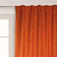 Tenda Oscurante Ignifugo Lin arancione fettuccia con passanti nascosti 140 x 300 cm