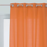 Tenda INSPIRE Lea arancione occhielli 140 x 280 cm