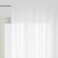 Tenda Micao bianco fettuccia con passanti nascosti 145 x 295 cm