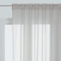 Tenda Linette grigio passanti nascosti 145 x 300 cm