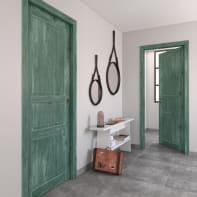 Porta a battente Old Town verde sbiancato L 60 x H 210 cm reversibile