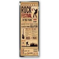 Stampa incorniciata Rock Festival 30x90 cm