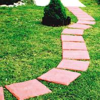Piastrelle ad incastro Pietra 40 x 40 cm, Sp 32 mm colore terracotta