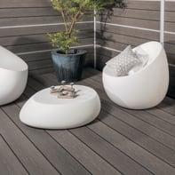 Listone da incastro Premium in legno composito L 240 x H 15 cm, Sp 21 mm grigio