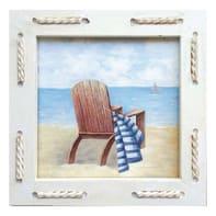 Quadro con cornice Sea Sdraio 25x25 cm
