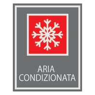 Cartello segnaletico Aria condizionata vinile 7 x 8.5 cm