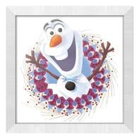Quadro con cornice Disney Olaf 36x46 cm 2 pezzi