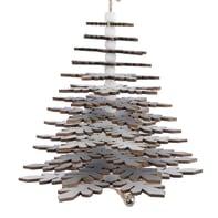 Albero di Natale da appendere glitter in legno H 33 cm Ø 18 cm