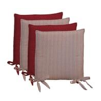 Cuscino per sedia Riga rosso 40x40 cm