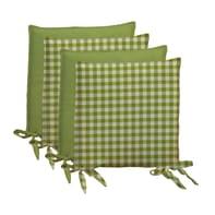 Cuscino per sedia Quadri verde 40x40 cm