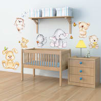 Sticker Wall Cute Animals 47x67 cm