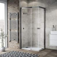 Box doccia scorrevole 120 x 70 cm, H 200 cm in vetro, spessore 6 mm trasparente cromato