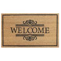 Zerbino Welcome in cocco multicolore 40x70 cm