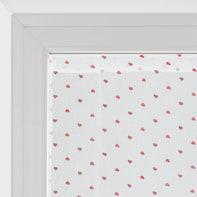 Tendina a vetro regolabile Andorra bianco e rosso tunnel 60x150 cm