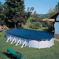 Copertura per piscina invernale NATERIAL CI501NAT in polietilene 410 x 610 cm