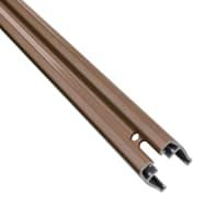 Profilo 2 pezzi Composite Premium Tessuto in alluminio H 180 x L 7 marrone