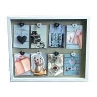 Cornice Love clamp per 8 fotografie 10 x 15  bianco