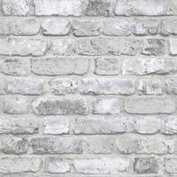 Carta da parati Mattoncino grigio