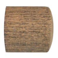Finale per bastone Ø28mm Tangeri tappo in legno tortora impregnato INSPIRE Set di 2 pezzi
